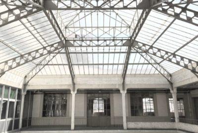 Intérieur du bâtiment : Vue verrière